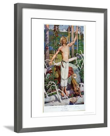 "The Anger of Kallervo, from ""Kalevala""-Akseli Valdemar Gallen-kallela-Framed Giclee Print"