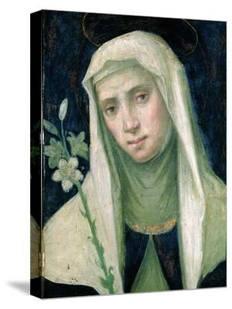 St. Catherine of Siena-Fra Bartolommeo-Stretched Canvas Print