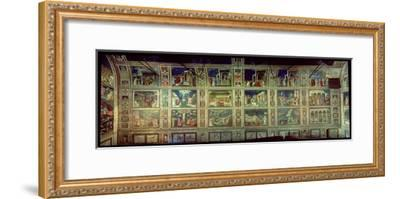 View of the North Wall, circa 1305-Giotto di Bondone-Framed Giclee Print