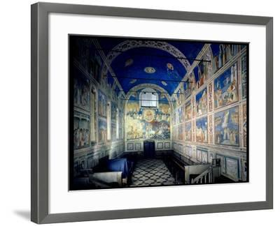View of the Chapel Looking Towards the Last Judgement, circa 1305-Giotto di Bondone-Framed Giclee Print