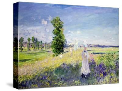 The Walk, circa 1872-75-Claude Monet-Stretched Canvas Print