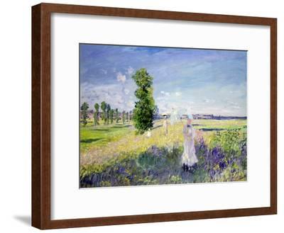 The Walk, circa 1872-75-Claude Monet-Framed Giclee Print