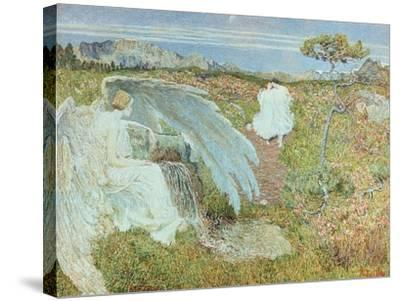 Love at the Fountain of Life, 1896-Giovanni Segantini-Stretched Canvas Print