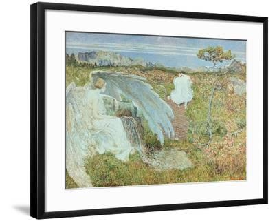 Love at the Fountain of Life, 1896-Giovanni Segantini-Framed Giclee Print