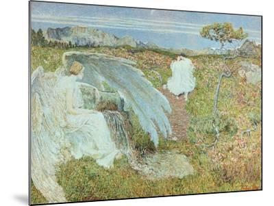 Love at the Fountain of Life, 1896-Giovanni Segantini-Mounted Giclee Print