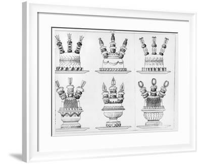 """Designs for Food Decoration from """"Le Cuisinier Parisien"""", Published 1842-Marie Antoine Careme-Framed Giclee Print"""