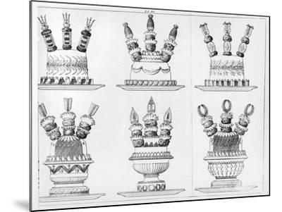 """Designs for Food Decoration from """"Le Cuisinier Parisien"""", Published 1842-Marie Antoine Careme-Mounted Giclee Print"""