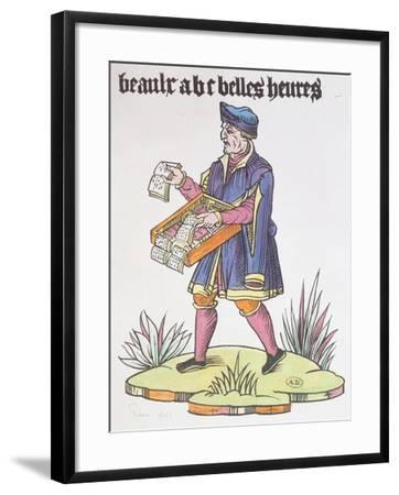 Street Hawker Selling Alphabet Primers and Books, from Cris De Paris, circa 1515--Framed Giclee Print