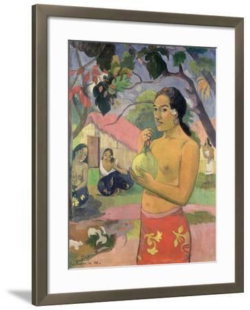 Woman with Mango, 1893-Paul Gauguin-Framed Giclee Print
