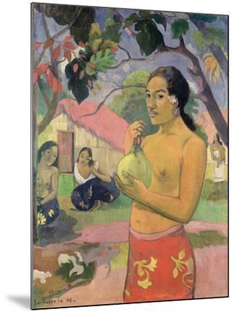Woman with Mango, 1893-Paul Gauguin-Mounted Giclee Print