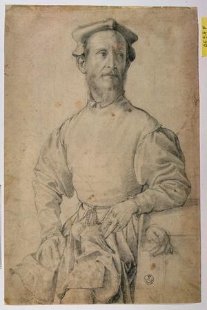 Portrait of Jacopo Pontormo-Agnolo Bronzino-Stretched Canvas Print