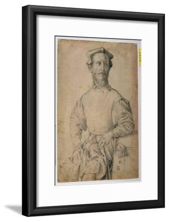 Portrait of Jacopo Pontormo-Agnolo Bronzino-Framed Giclee Print