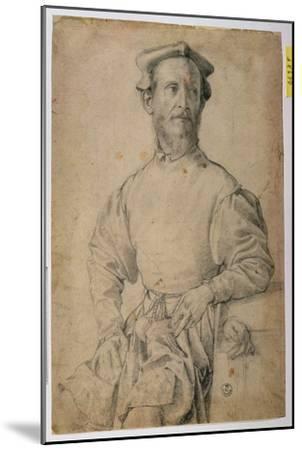 Portrait of Jacopo Pontormo-Agnolo Bronzino-Mounted Giclee Print