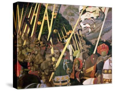 The Battle of San Romano, circa 1450-60 (Detail)-Paolo Uccello-Stretched Canvas Print