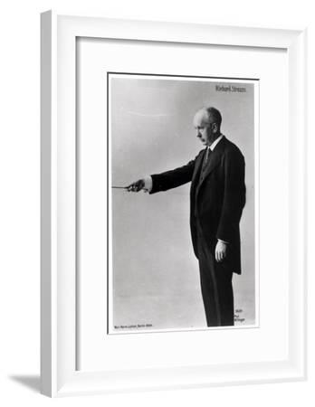 Richard Strauss Conducting in Berlin, 1920s--Framed Giclee Print