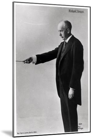 Richard Strauss Conducting in Berlin, 1920s--Mounted Giclee Print