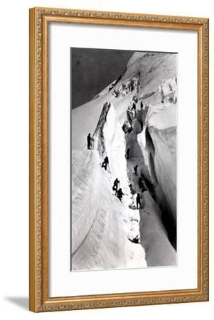 Climbers Ascending Mont Blanc, circa 1860- Bisson Freres Studio-Framed Giclee Print