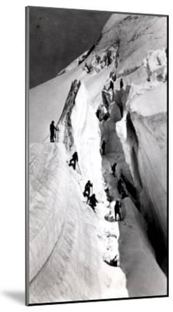 Climbers Ascending Mont Blanc, circa 1860- Bisson Freres Studio-Mounted Giclee Print