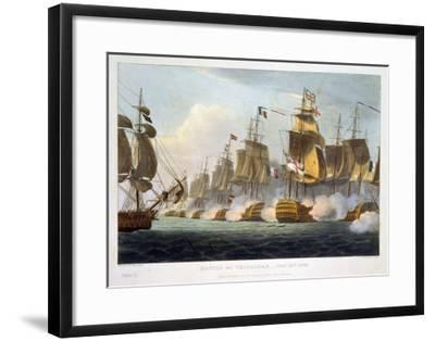 """Battle of Trafalgar, October 21st 1805, from """"The Naval Achievements of Great Britain""""-Thomas Whitcombe-Framed Giclee Print"""