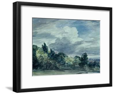 View over a Wide Landscape, with Trees in the Foreground, September 1832-John Constable-Framed Giclee Print