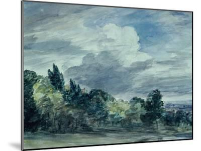 View over a Wide Landscape, with Trees in the Foreground, September 1832-John Constable-Mounted Giclee Print