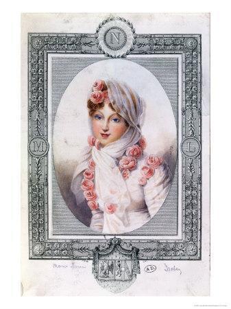 Portrait of Marie Laczinska Countess Walewska-Jean-Baptiste Isabey-Framed Giclee Print