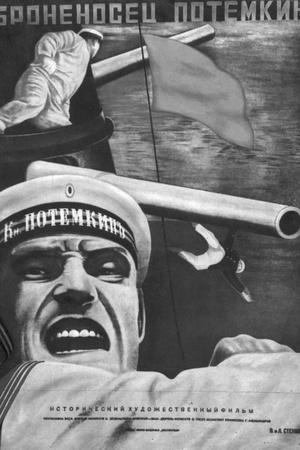 "Poster for Sergey Eisenstein's Film, ""Battleship Potemkin""--Stretched Canvas Print"