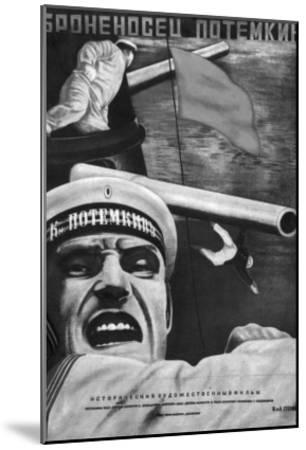 "Poster for Sergey Eisenstein's Film, ""Battleship Potemkin""--Mounted Giclee Print"