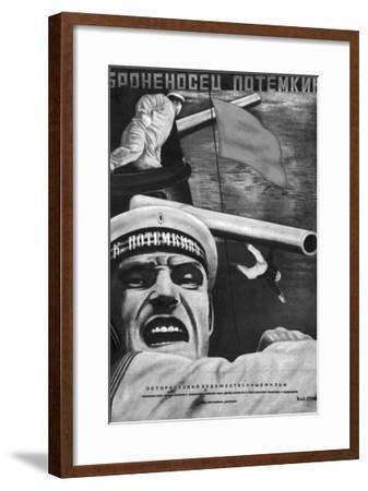 """Poster for Sergey Eisenstein's Film, """"Battleship Potemkin""""--Framed Giclee Print"""
