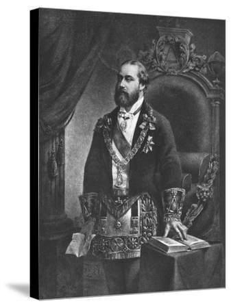 Edward Prince of Wales, Later Edward VII, as Grand Master of Freemasonry, 1884--Stretched Canvas Print