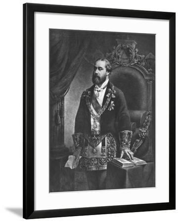 Edward Prince of Wales, Later Edward VII, as Grand Master of Freemasonry, 1884--Framed Giclee Print