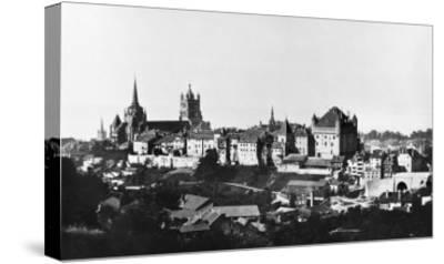 View of Lausanne, circa 1856-60- Bisson Freres Studio-Stretched Canvas Print