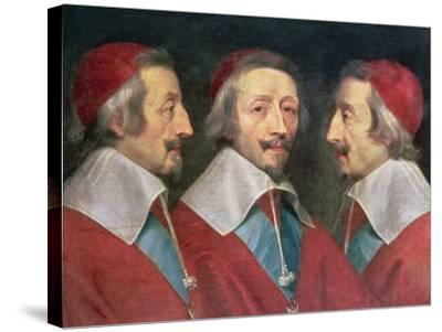 Triple Portrait of the Head of Richelieu, 1642-Philippe De Champaigne-Stretched Canvas Print