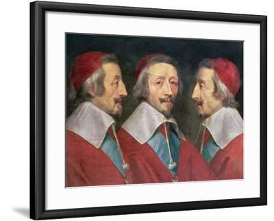 Triple Portrait of the Head of Richelieu, 1642-Philippe De Champaigne-Framed Giclee Print