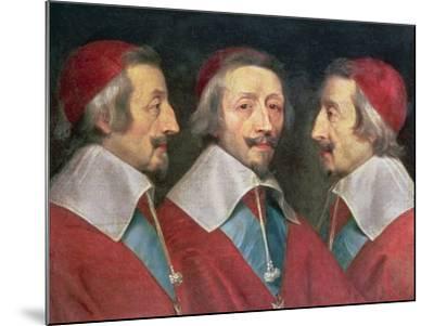 Triple Portrait of the Head of Richelieu, 1642-Philippe De Champaigne-Mounted Giclee Print