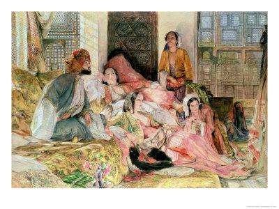 The Harem, circa 1850-John Frederick Lewis-Stretched Canvas Print