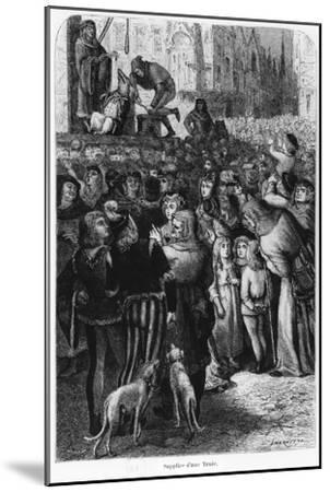 """The Execution of the Sow from Falaise, Illustration from """"The Man and the Beast""""--Mounted Giclee Print"""