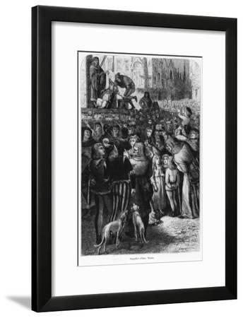 """The Execution of the Sow from Falaise, Illustration from """"The Man and the Beast""""--Framed Giclee Print"""