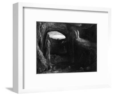 """Virgil (70-19 BC) and Dante Entering Hell, Illustration from """"The Divine Comedy""""-Gustave Dor?-Framed Premium Giclee Print"""