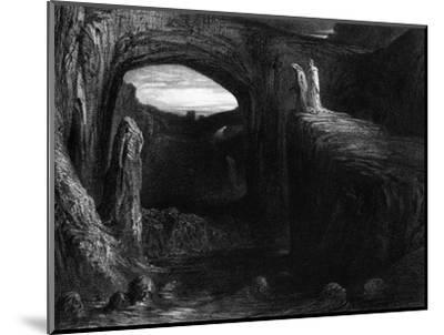 """Virgil (70-19 BC) and Dante Entering Hell, Illustration from """"The Divine Comedy""""-Gustave Dor?-Mounted Premium Giclee Print"""