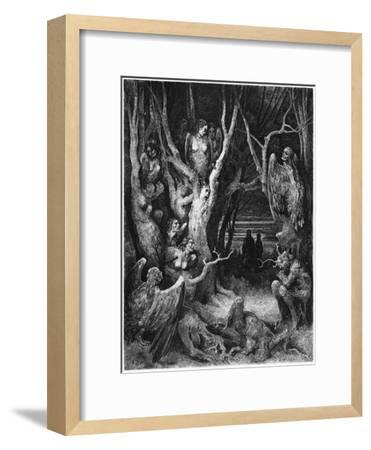 "Harpies, Illustration from ""The Divine Comedy"" by Dante Alighieri Paris, Published 1885-Gustave Dor?-Framed Giclee Print"