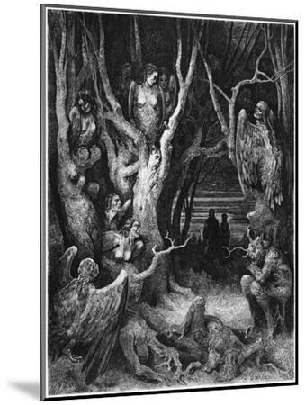 "Harpies, Illustration from ""The Divine Comedy"" by Dante Alighieri Paris, Published 1885-Gustave Dor?-Mounted Giclee Print"