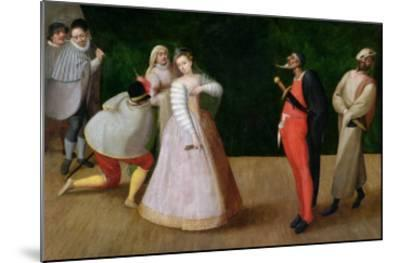 The Compagnia Dei Comici Gelosi with Isabella Andreini Depicted Giving a Performance in Paris-Hieronymus Francken-Mounted Giclee Print