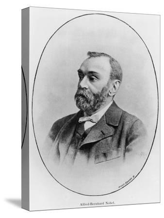 "Alfred Nobel Illustration from ""La Revue Illustree,"" 1902--Stretched Canvas Print"