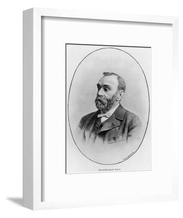 "Alfred Nobel Illustration from ""La Revue Illustree,"" 1902--Framed Premium Giclee Print"
