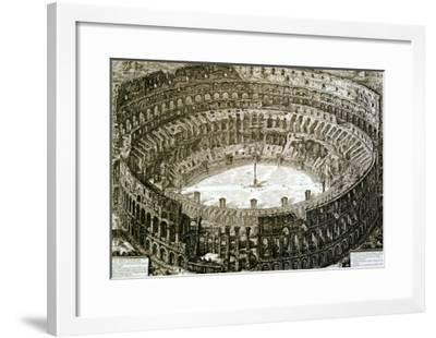 "Aerial View of the Colosseum in Rome from ""Views of Rome""-Giovanni Battista Piranesi-Framed Giclee Print"
