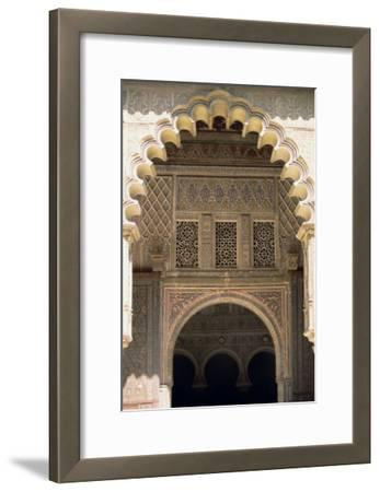 Detail of One of the Polylobed Arches from the Patio De Las Doncellas--Framed Giclee Print
