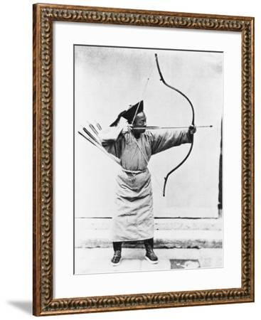 Chinese Archer, circa 1870-John Thomson-Framed Giclee Print