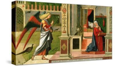 The Annunciation (Detail)-Vittore Carpaccio-Stretched Canvas Print