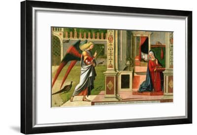 The Annunciation (Detail)-Vittore Carpaccio-Framed Giclee Print